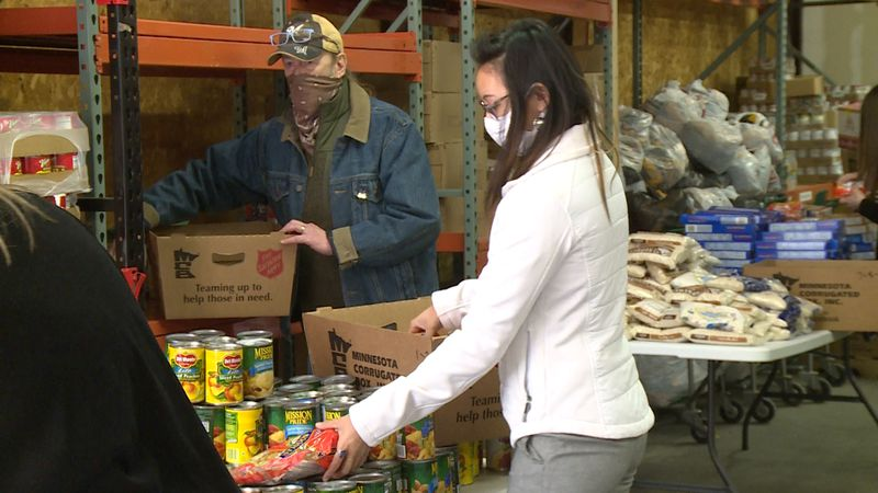 The Hunger Task Force of La Crosse joins forces with the Salvation Army to host Food...