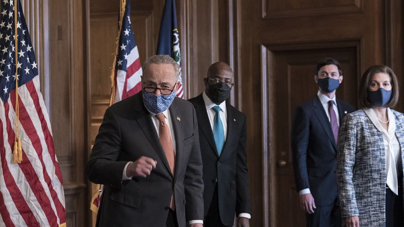 On the first full day of the Democratic majority in the Senate, Majority Leader Chuck Schumer,...