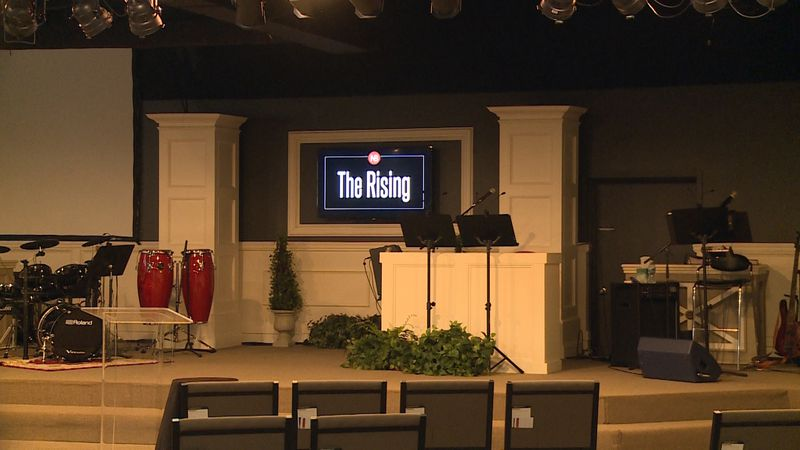Inside the sanctuary at New Beginnings Church in Eau Claire.