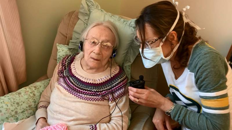 Ruth Stryzewski (left) of Oshkosh, who turns 109 in February, is inspiring people after...