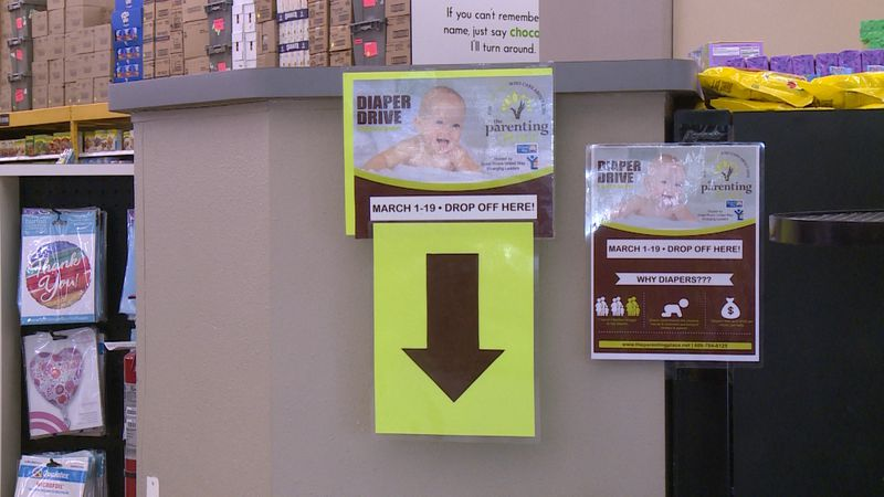 The diaper drive kicked off today and runs through March 19 at several La Crosse area businesses.