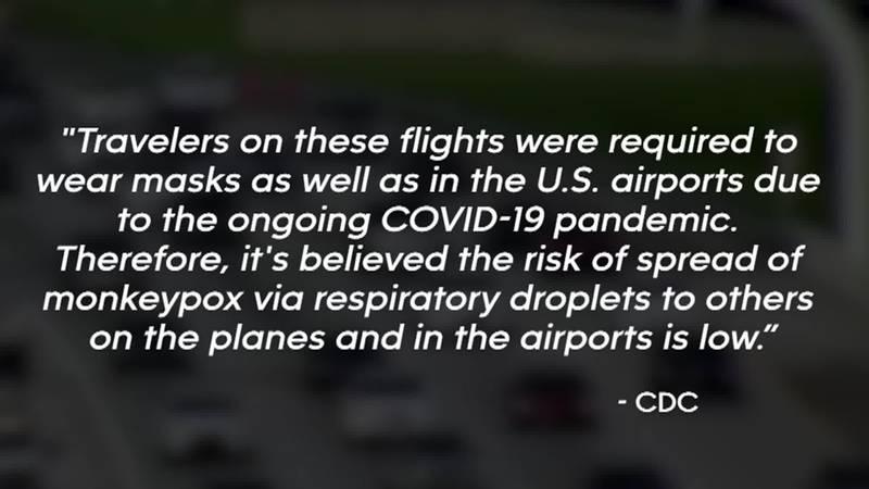 The traveler, who was not identified, took a flight to the United States from Lagos, Nigeria,...