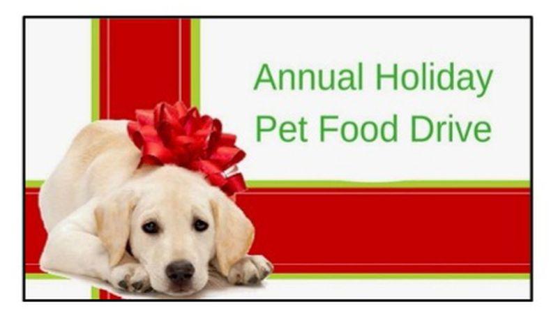 Holiday Pet Food Drive