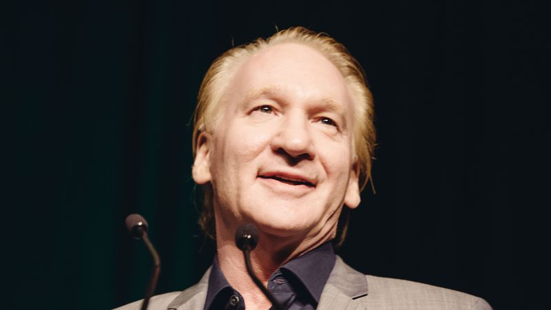 Bill Maher, winner of the First Amendment Award, speaks to the crowd at the 26th Annual...