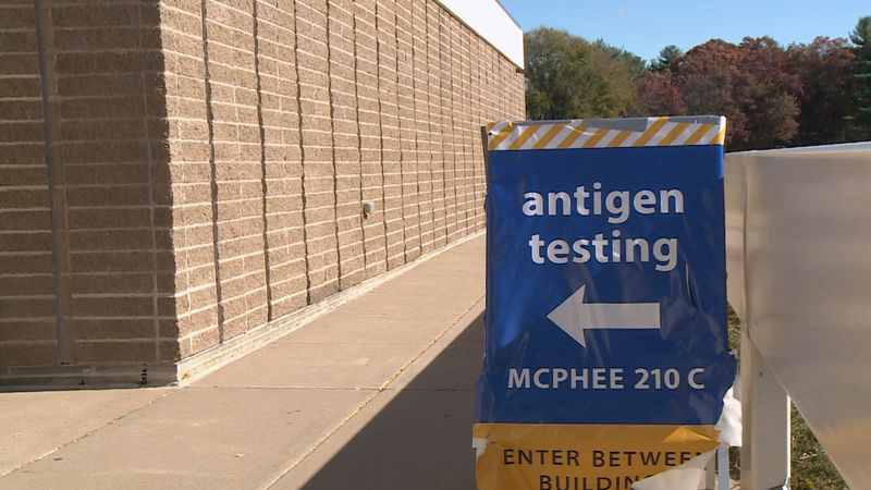 Testing site at McPhee Physical Education Center