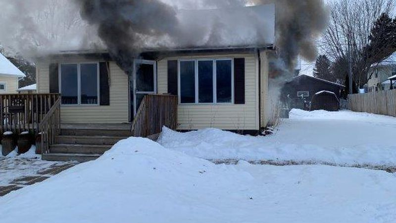 A Mondovi house is considered a total lose after a fire broke out Thursday.
