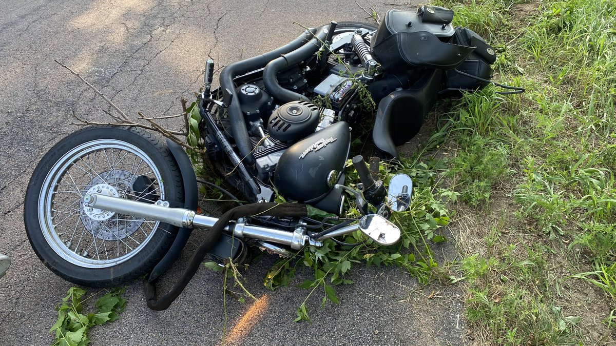 One person was taking to the hospital after a motorcycle crash in Buffalo County on 07/25/2021.