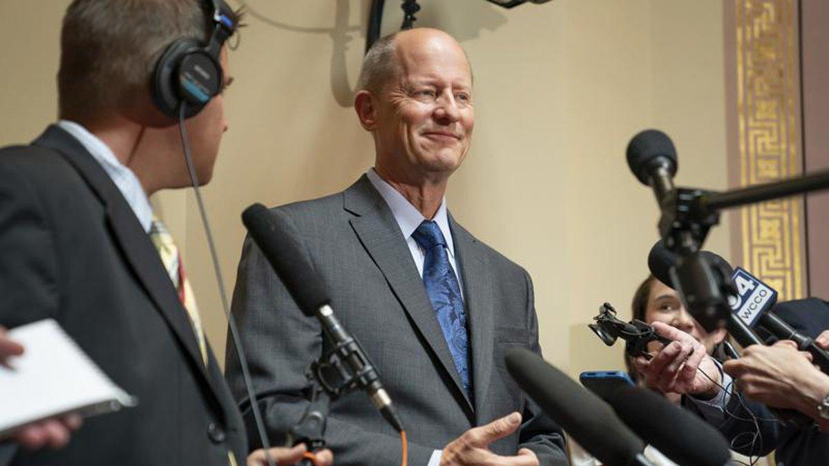 [FILE] Senate Majority Leader Paul Gazelka, R-East Gull Lake held a press conference to provide...