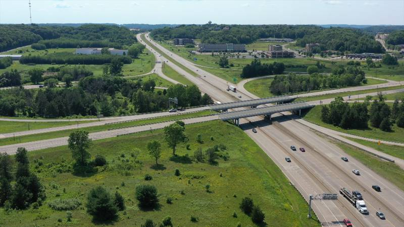 Holiday traffic from Eau Claire