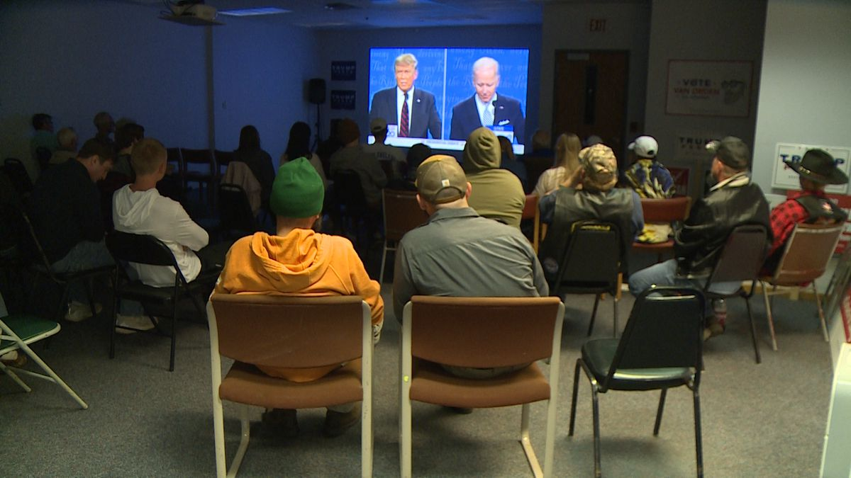 Republicans in Eau Claire County gathered at the party's county headquarters to watch the first Presidential Debate.