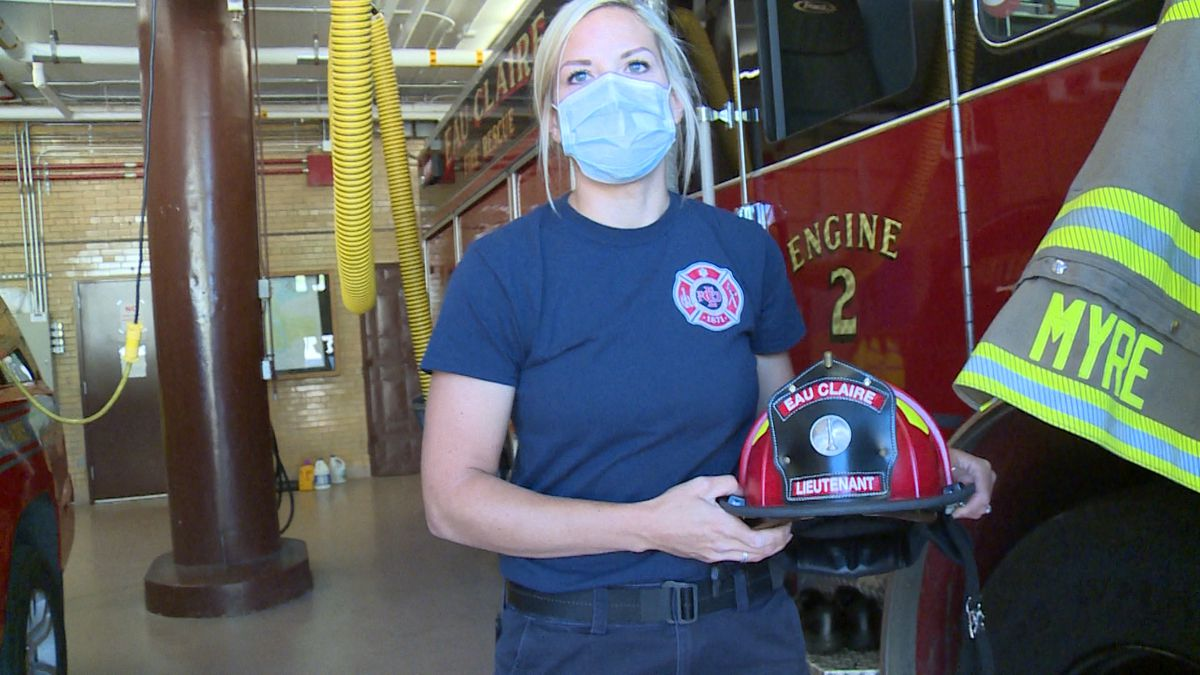 Natasha Myre is promoted to be Eau Claire Fire and Rescue's first female officer