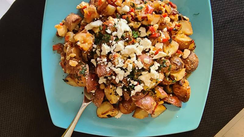 Recipe for Warm Roasted Potato Salad