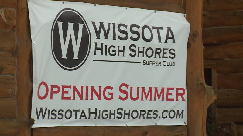Wissota High Shores Supper Club sign outside the restaurant in Lake Wissota, Wis.