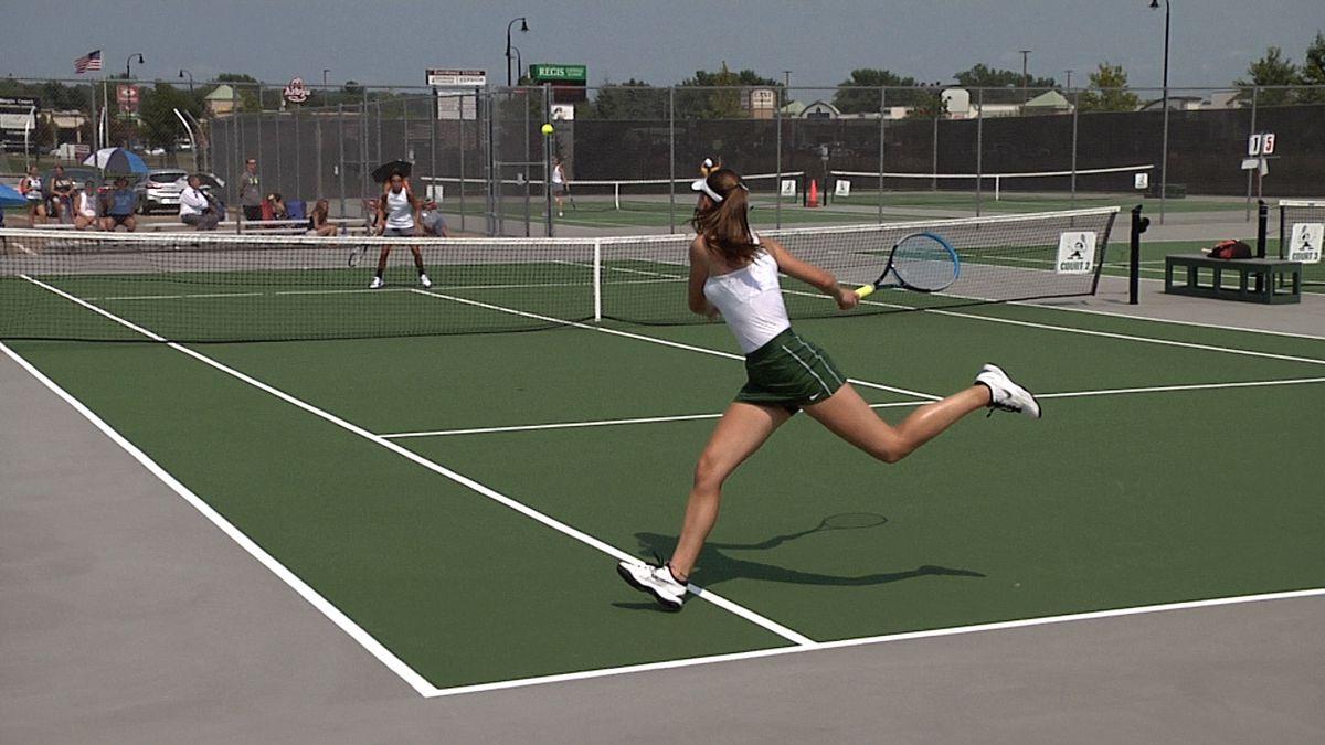 Eau Claire Regis vs. La Crosse Aquinas tennis.