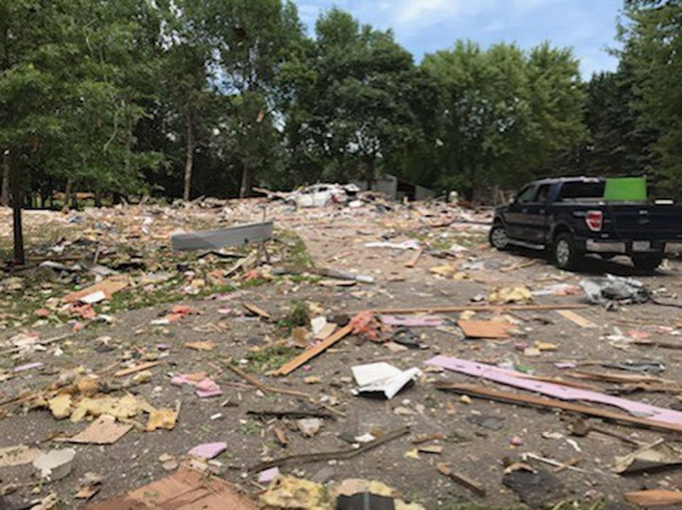 The aftermath of the house explosion in Chippewa County.