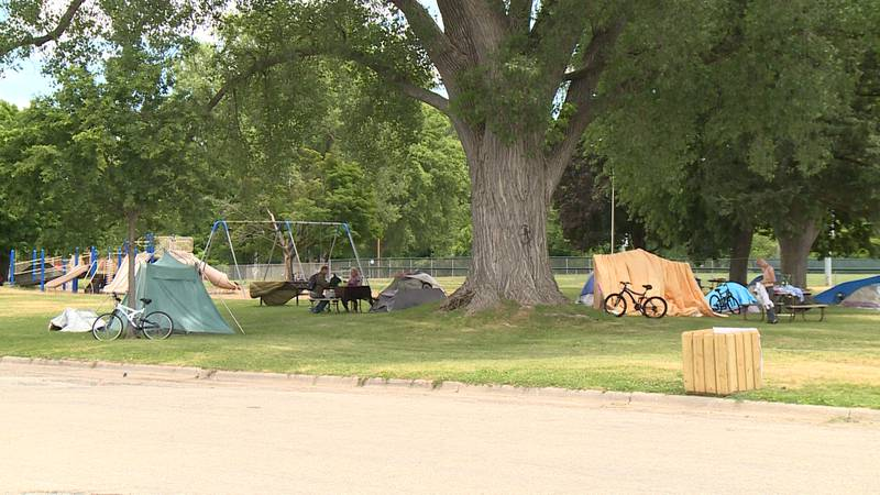 La Crosse's homeless population is being allowed to gather in Houska Park