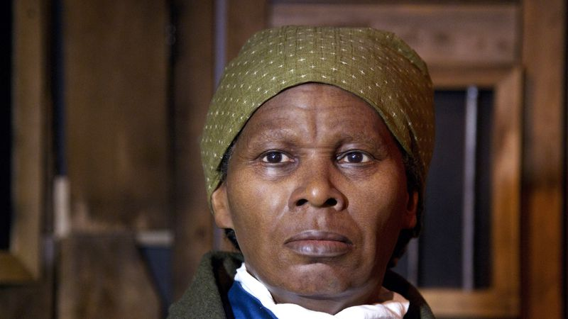In this Feb. 7, 2012 file photo, a wax likeness of the renowned abolitionist and conductor of...