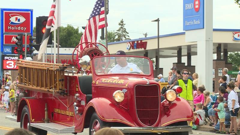 Fire truck in the 2019 Pure Water Days Parade