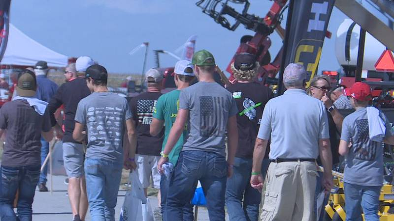 There was farm equipment almost everywhere in sight, several vendors selling a variety goods...