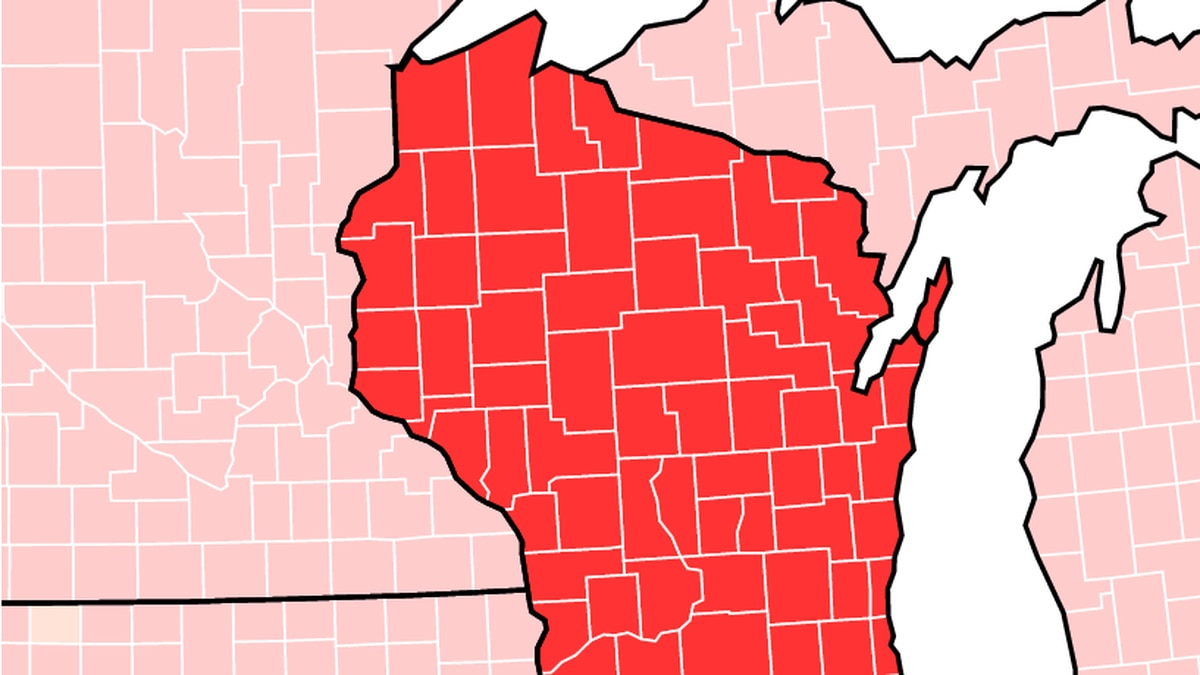 The most recent Centers for Disease Control and Prevention map shows all 72 counties have...