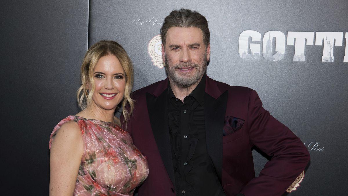 "Kelly Preston and John Travolta attend the premiere of ""Gotti"" at the SVA Theatre on Thursday, June 14, 2018, in New York."