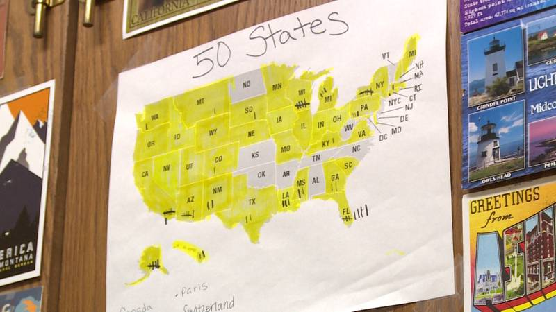 Our House Senior Living hopes to collect postcards from each of the 50 states.