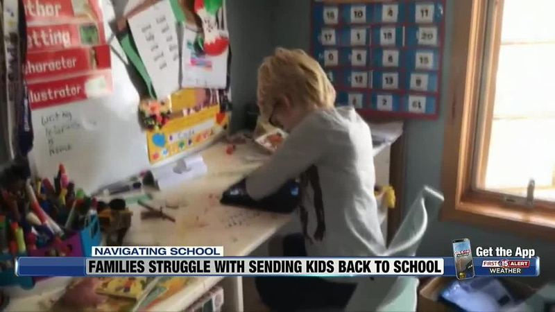 Cade Moureau is one of 100 local children participating in a study aimed at getting K-12...