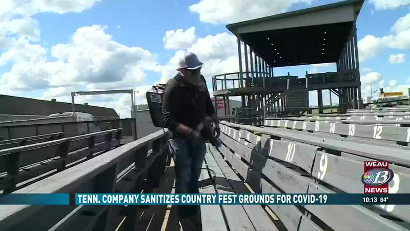 Company Sanitizes Country Fest Grounds