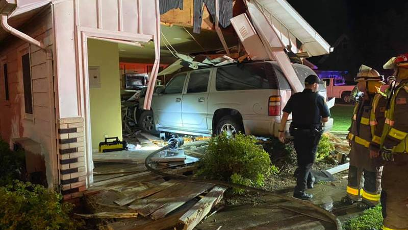 SUV crashes into home in Coon Valley early July 4.