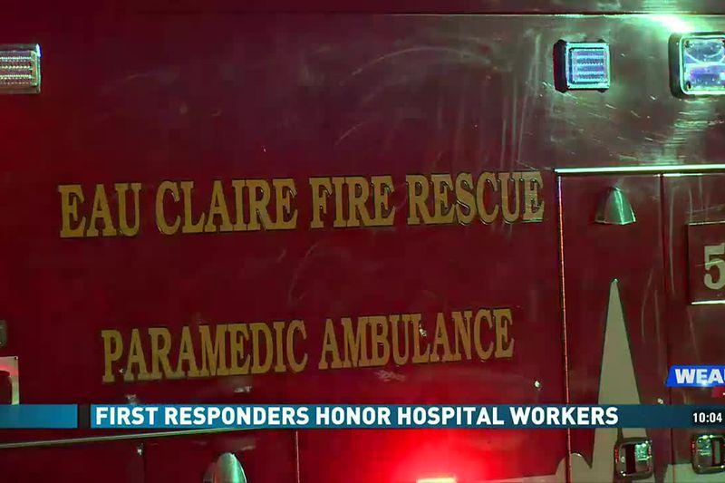 First Responders Honor Hospital Workers