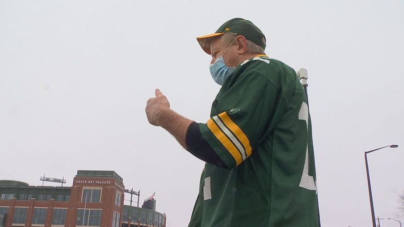 Lifelong Packer fan, Joe Dombrowski, traveled half-way across the country to make sure he could...