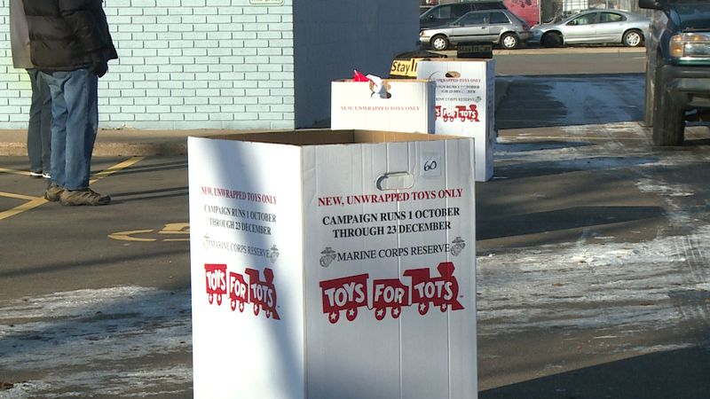 Toys for Tots in Eau Claire, kicks off first day of gift distribution with COVID-19 friendly,...