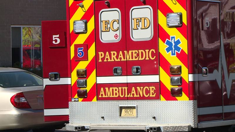 An ambulance with Eau Claire Fire and Rescue was dispatched to an apartment fire on Eau...
