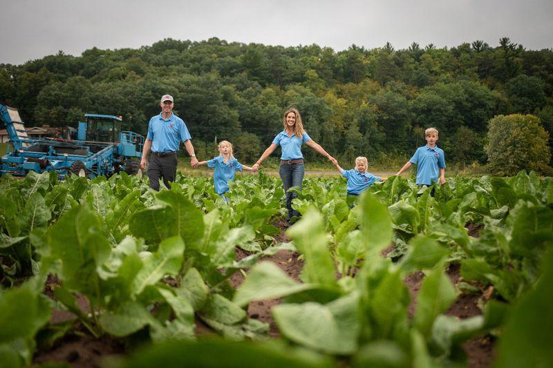The Rygg Family, Hosts of Wisconsin Farm Technology Days – Eau Claire, on Huntsinger Farm