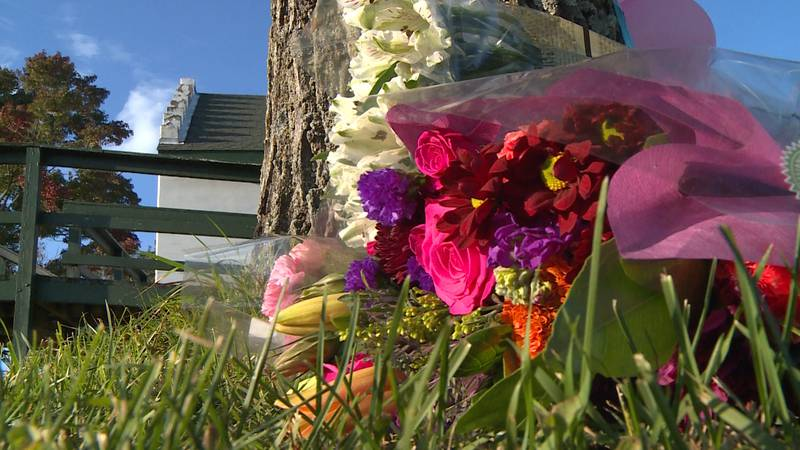 Vigil held in the town of Sheridan in honor of the quadruple homicide victims.