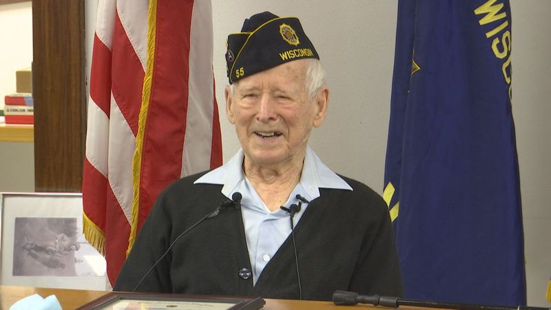 Robert was awarded for 75 years of continued service with the American Legion Auxiliary