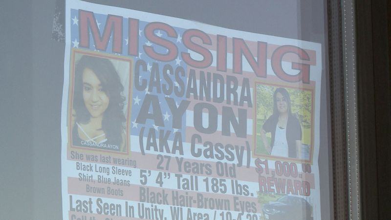 The search continues for 27-year-old Cassandra Ayon who hasn't been seen since Oct. 3.