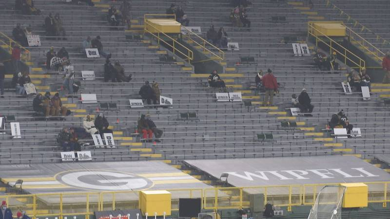 Front line workers were invited to Saturday's Packers game at Lambeau Field.