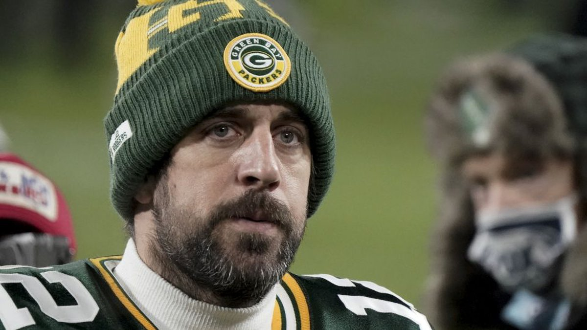 FILE - In this Sunday, Jan. 24, 2021, file photo, Green Bay Packers quarterback Aaron Rodgers...
