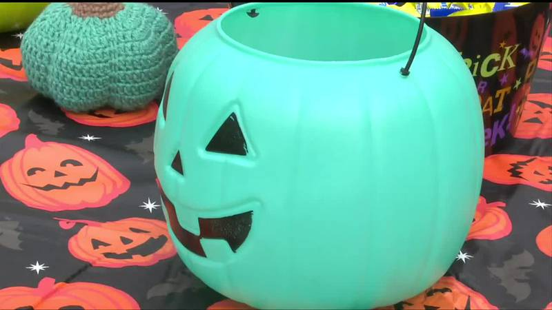 By placing a teal pumpkin outside your home, you can signal that yours is a safe place for...