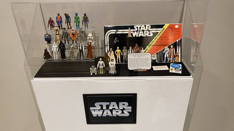 The collection of toys is a traveling exhibit by Jarrod Roll