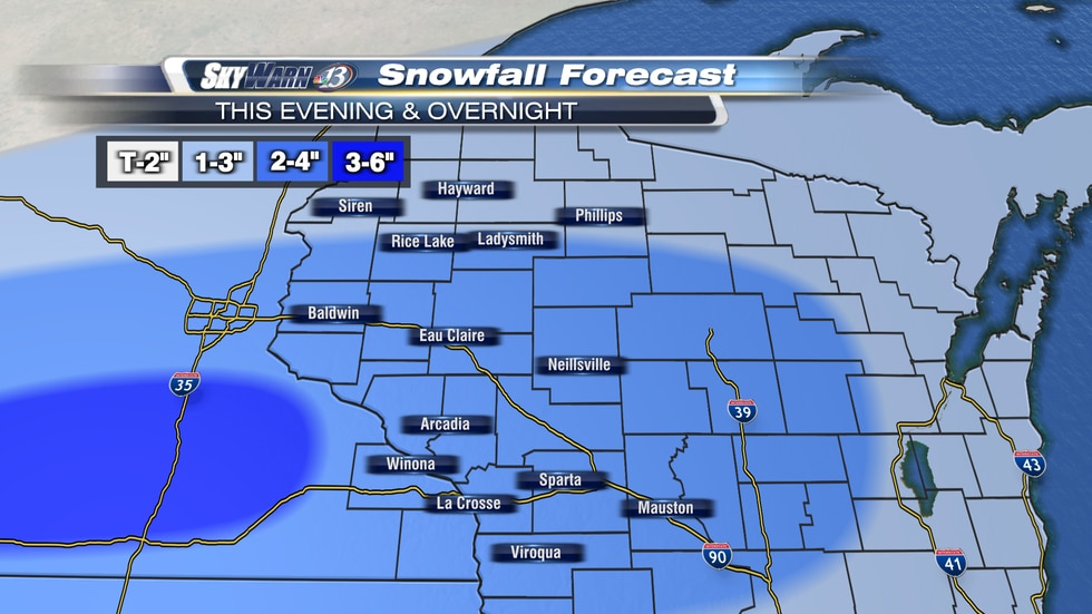 A widespread plowable snowfall will impact Western Wisconsin through Saturday night.