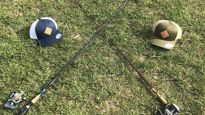 Golden Standard Outdoors makes custom fishing rods and their own apparel.