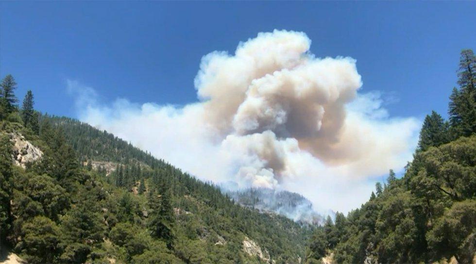 The Dixie Fire burns near Paradise, Calif.