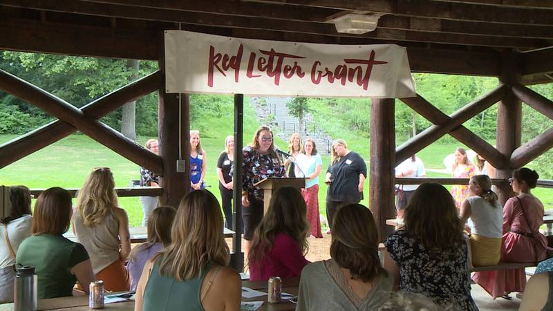 Female business leaders are awarded Red Letter Grants in a ceremony Wednesday evening.