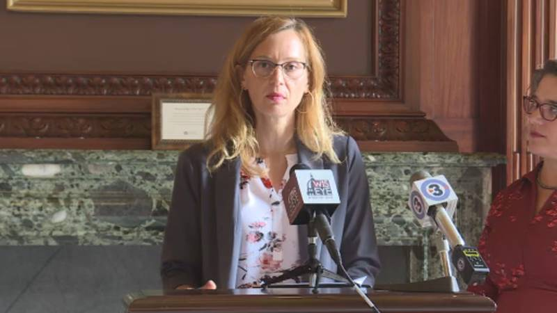 Rep. Kristina Shelton (D-Green Bay) introduces a housing assistance bill Thursday.