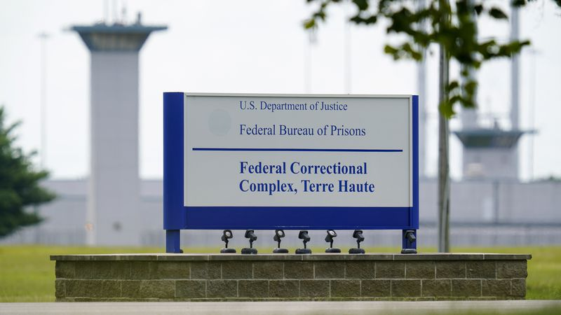 This Aug. 28, 2020, file photo shows the federal prison complex in Terre Haute, Ind.