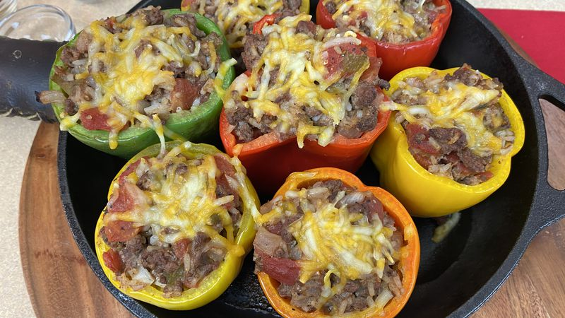 Wisconsin Beef Council shares a grilled stuffed peppers recipe.
