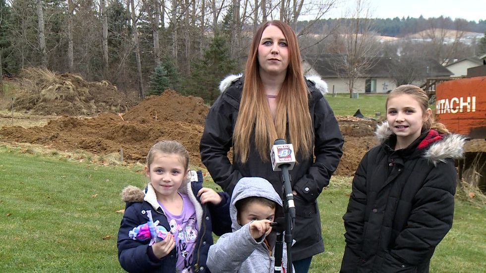Brittany Risler and her three kids