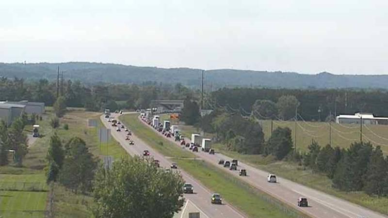 A crash closed the westbound lanes of I-94 near Menomonie Sunday, September 12 around 3 p.m.